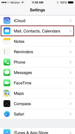 iPhone Email Setup, Step 2
