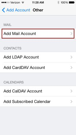 iPhone Email Setup, Step 5